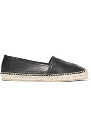 Saint Laurent Embossed leather espadrilles