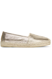 Saint Laurent Embossed metallic leather espadrilles