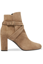 Saint Laurent Babies buckled suede ankle boots