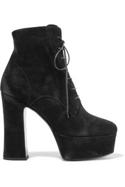 Saint Laurent Candy suede platform ankle boots
