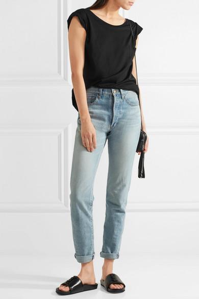 Saint Laurent | Leder Joan verzierte Pantoletten aus Leder | 4d8088