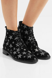 Saint Laurent Lolita glittered suede boots