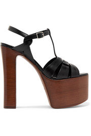 Saint Laurent Leather platform sandals
