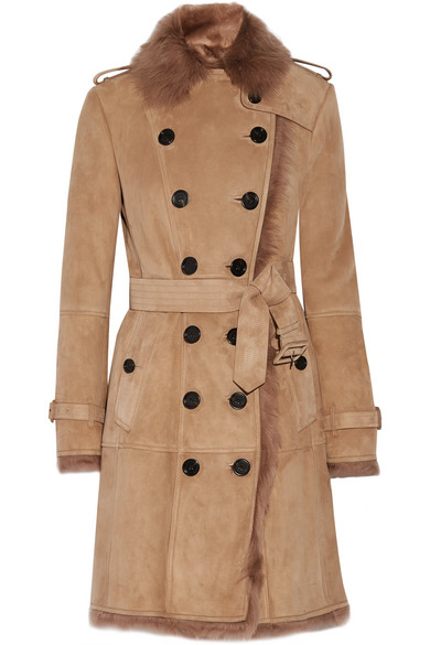 Burberry - Toddingwall Shearling Trench Coat - Camel