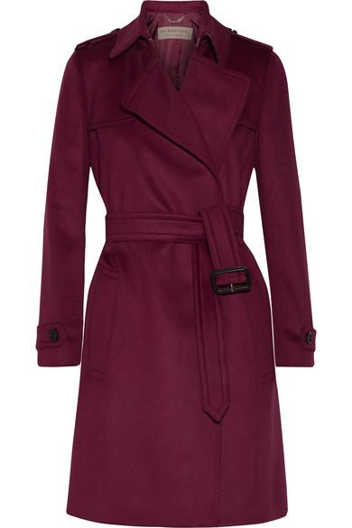Burberry - Tempsford Cashmere Trench Coat - Crimson