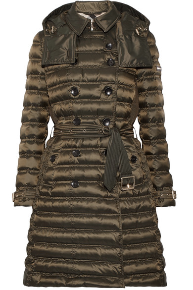Burberry - Quilted Shell Down Coat - Army green