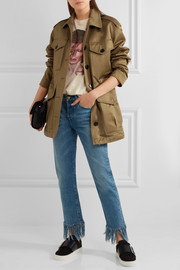 Cotton-sateen jacket