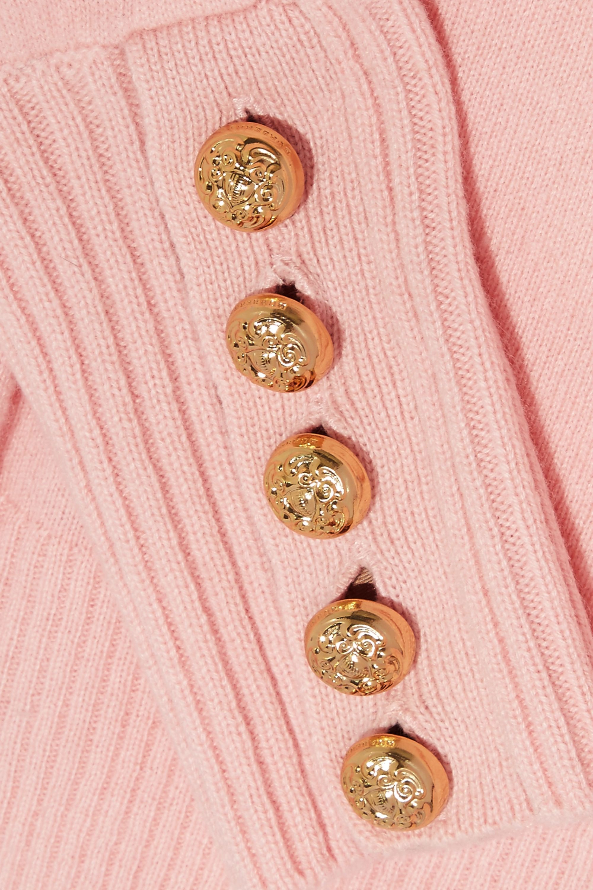 Burberry Button-detailed cashmere sweater