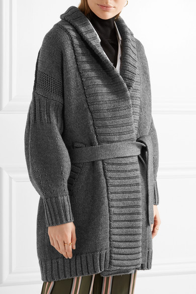 Burberry | Belted wool and cashmere-blend cardigan | NET-A-PORTER.COM