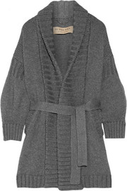 Burberry Belted wool and cashmere-blend cardigan