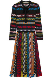 Mary Katrantzou Faye striped jacquard-knit dress