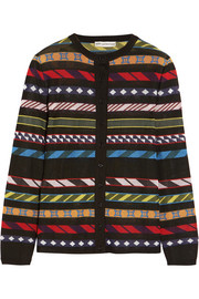 Mary Katrantzou Dax jacquard-knit cardigan