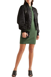 3.1 Phillip Lim Lace-up ribbed stretch-knit mini dress