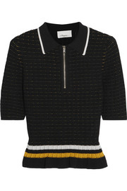 3.1 Phillip Lim Striped smocked stretch-cotton top