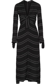 Proenza Schouler Striped crepe midi dress