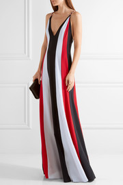 Somerset striped silk crepe gown