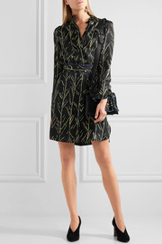 Proenza Schouler Printed silk-twill dress