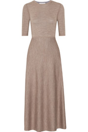 Seymore reversible wool-blend midi dress