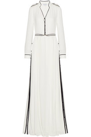 Russell belted georgette gown