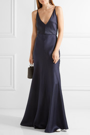Louise herringbone silk gown