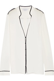 Stuart silk-georgette blouse