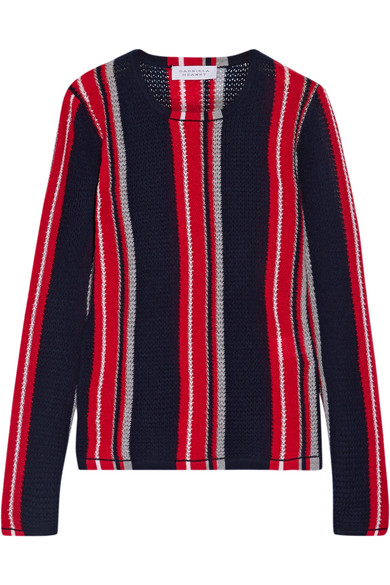 Gabriela Hearst - Lucan Striped Cashmere Sweater - Navy