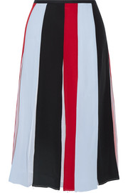 Gabriela Hearst Victoria pleated striped silk-crepe skirt