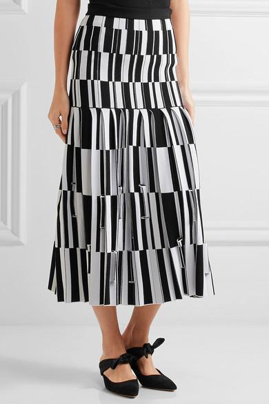 proenza schouler pleated jacquard maxi skirt multi