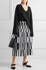 Proenza Schouler Pleated jacquard-knit skirt