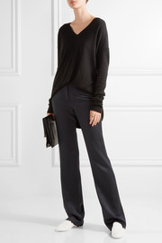 Walmer silk straight-leg pants