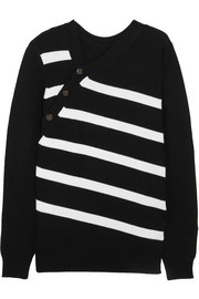 Proenza Schouler Striped cashmere and cotton-blend sweater