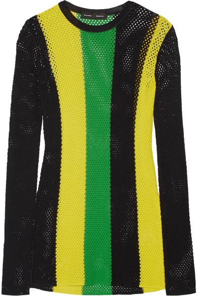 Proenza Schouler - Striped Open-knit Sweater - Yellow