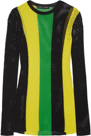 Proenza Schouler Striped open-knit sweater