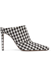 Davidson houndstooth canvas mules