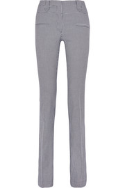 Serge houndstooth stretch-cotton flared pants
