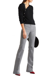 Altuzarra Serge houndstooth stretch-cotton flared pants