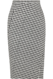Vic houndstooth stretch-crepe pencil skirt