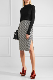 Altuzarra Vic houndstooth stretch-crepe pencil skirt