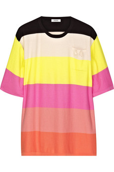 Sonia by Sonia Rykiel Striped fine-knit cotton T-shirt