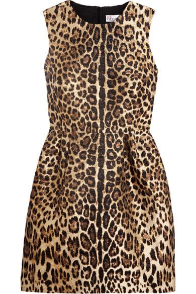 REDValentino - Leopard Lamé-jacquard Mini Dress - Leopard print
