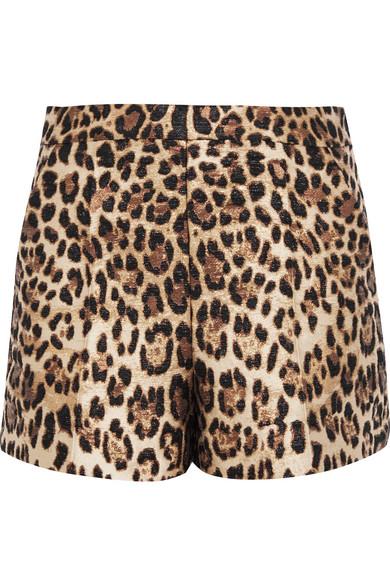 REDValentino - Leopard-jacquard Shorts - Leopard print
