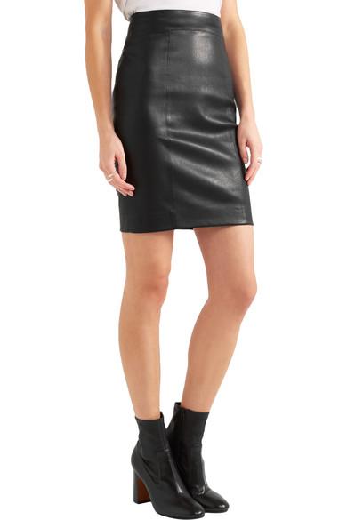 joseph clara leather skirt net a porter