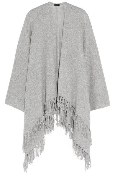 Joseph - Fringed Cashmere Wrap - Gray