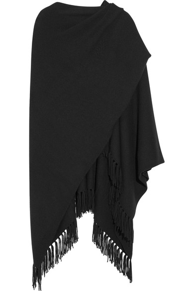 Joseph - Fringed Cashmere Wrap - Black