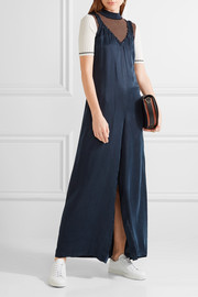 Sophie ruffled washed-satin jumpsuit