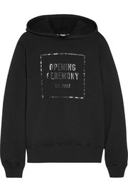 Opening Ceremony Established printed cotton-jersey hooded top