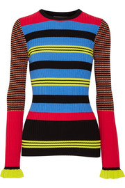 Opening Ceremony Striped ribbed-knit sweater