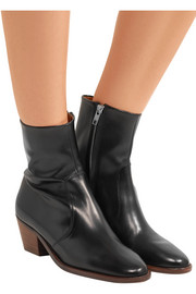 Isabel Marant Étoile Doynie glossed-leather ankle boots