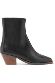 Étoile Doynie glossed-leather ankle boots