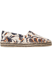 Étoile Canaee printed cotton-canvas espadrilles